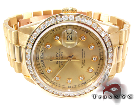 Rolex President  Day-Date Yellow Gold Diamond Rolex Watch Collection