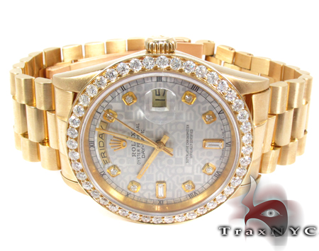 Rolex Day-Date Yellow Gold 118238 Diamond Rolex Watch Collection