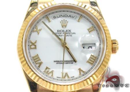 Rolex Yellow Gold Day Date Watch 118238 Diamond Rolex Watch Collection
