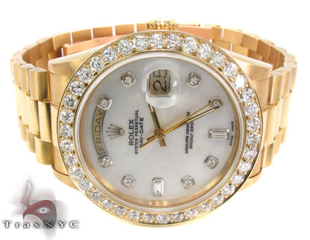 Rolex Day-Date Yellow Gold 118348 Diamond Rolex Watch Collection