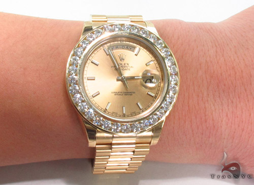 Rolex Day-Date II President Yellow Gold 218238 Diamond Rolex Watch Collection