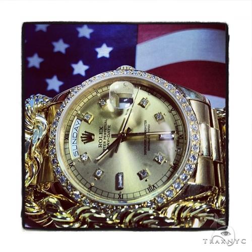 Rolex Day-Date Yellow Gold Watch 218238 Diamond Rolex Watch Collection