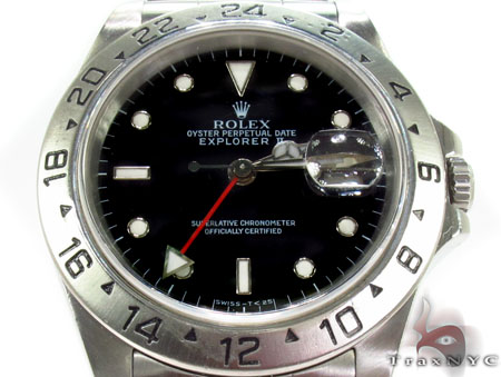 Rolex Explorer II Steel 16570 BKSO Diamond Rolex Watch Collection