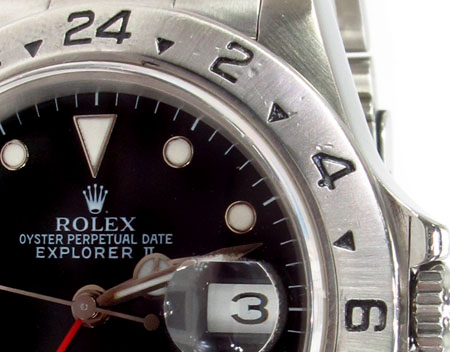 Rolex Explorer II Steel 16570 BKSO Diamond Rolex Watch Collection