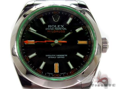 Rolex Milgauss Steel 116400GV Diamond Rolex Watch Collection
