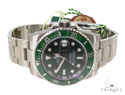 Rolex Submariner Steel 116610 Green Dial Diamond Rolex Watch Collection