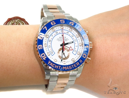 Rolex Yacht-Master II Steel and Everose Gold 116681 Diamond Rolex Watch Collection
