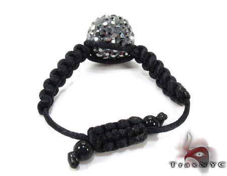 Rope Black Crystal Ring Anniversary/Fashion