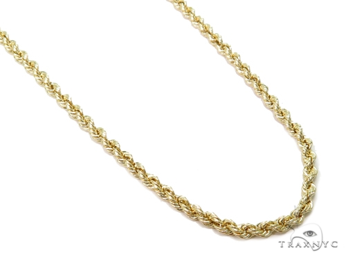 Rope Hollow Gold Chain 18 Inches 3mm 4.60 Grams 40982 Gold