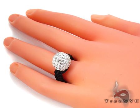 Rope White Crystal Ring Anniversary/Fashion