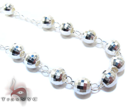 Rosary Silver Chain 32 Inches, 7mm, 46.3 Grams Silver