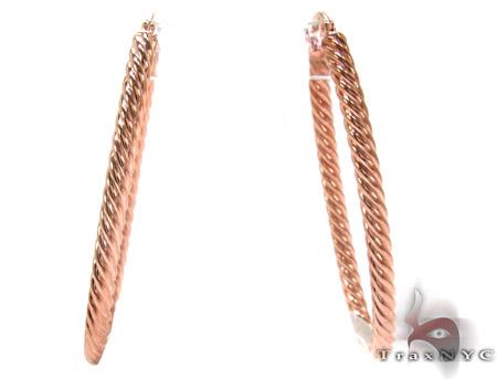 Rose 14K Gold Hoop Earrings Metal