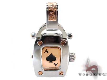 Baraka Rose Gold & Steel Casino Pendant Metal