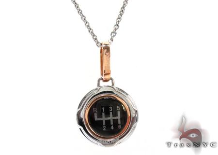 Rose Gold and Stainless Steel Baraka Pendant Metal