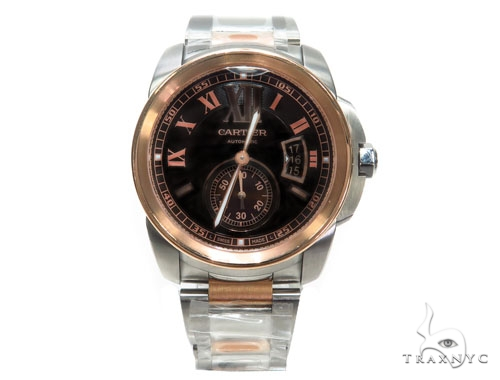 Rose and White Cartier Men's Watch 41114 Cartier