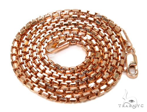Round Box Gold Chain 16 Inches 3mm 5.5 Grams 40243 Gold