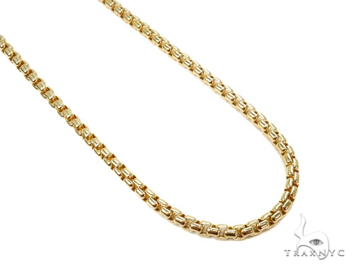 Round Box Gold Chain 16 Inches 4mm 10.1 Grams 40242 Gold