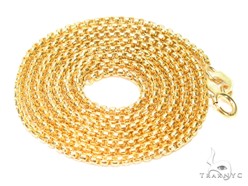 Round Box Gold n 18 Inches 1mm 2.1 Grams 40904 Gold