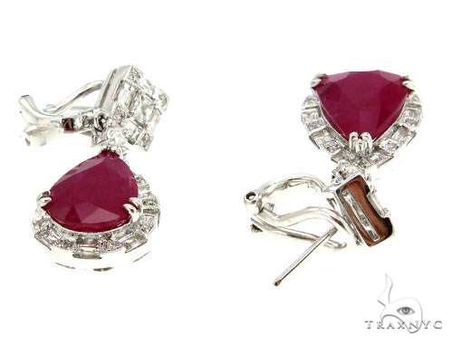 Ruby Diamond Earrings 42426 Stone
