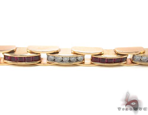Ruby & Diamond Bracelet 34052 Gemstone & Pearl