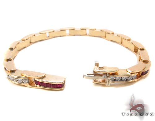 Ruby & Diamond Bracelet 34052 Gemstone & Pearl