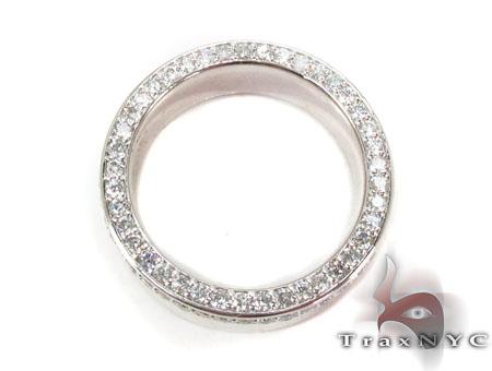 10 k White Gold Men Engagement Ring Stone