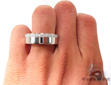 10 k White Gold Men Engagement Ring Stone