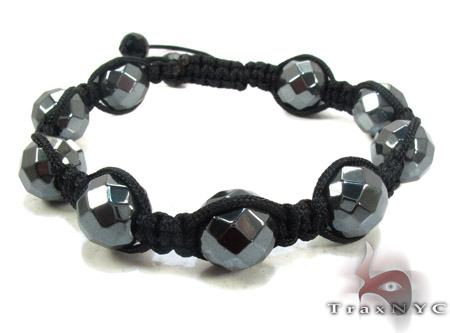 Bead Ball Black Bead Bracelet ロープ ブレスレット