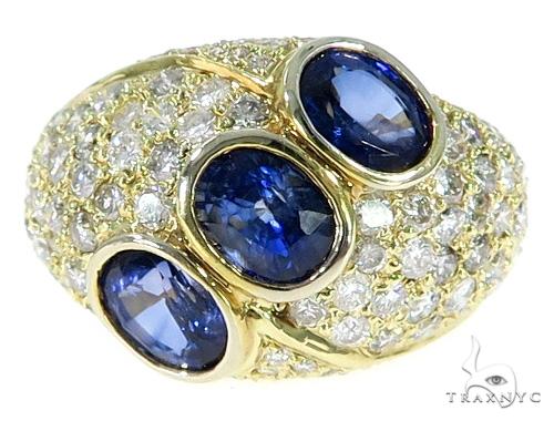 Sapphire Diamond Pinky Ring 49646 Stone
