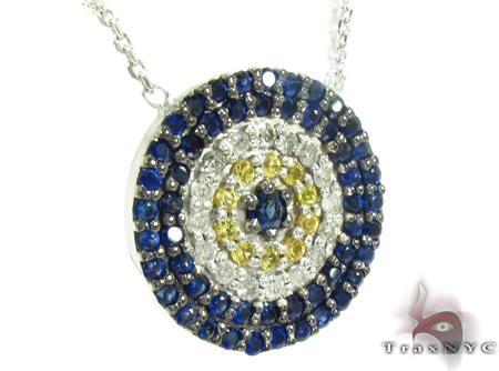 Sapphire & Diamond Pendant 32225 Gemstone