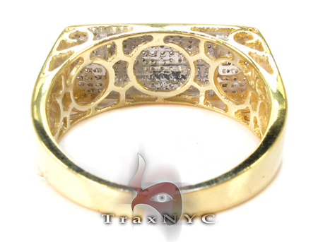 Sawyer Yellow Silver with White Color Diamond Ring Metal