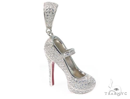 High Heel Silver pendant 45020 Metal