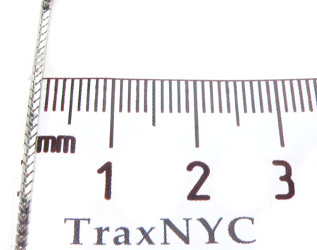 14K White Gold Franco n 24 Inches, 1.5mm, 8.19Grams Gold