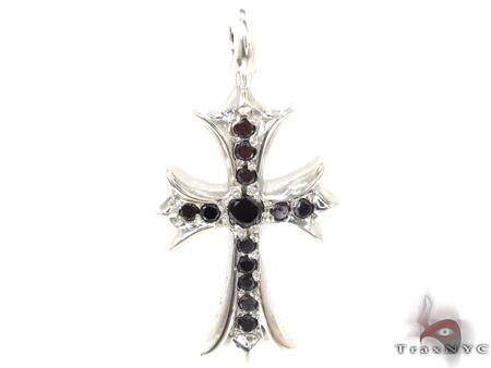 Silver Black Diamond Chrome Hearts Cross 32659 Silver