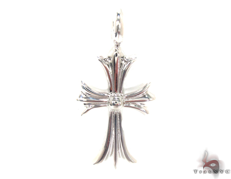 Silver Black Diamond Chrome Hearts Cross 32659 Silver