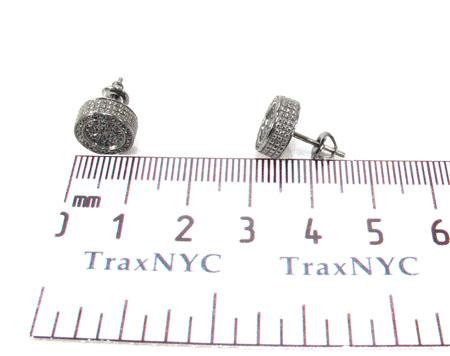 Silver Black Diamond Earrings 28525 Stone