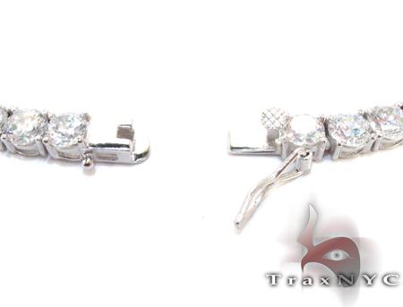 Silver CZ Chain 34 Inches 4mm 75.30 Grams Silver
