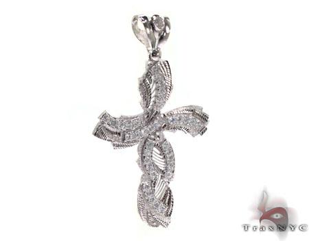 Silver CZ Cross 30918 Silver