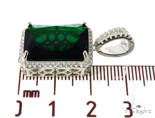 Silver CZ Hot Green Gemstone 49050 Metal