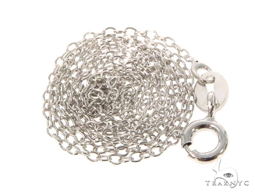 Silver Chain 18 Inches 1mm 0.9 Grams 45279 Silver