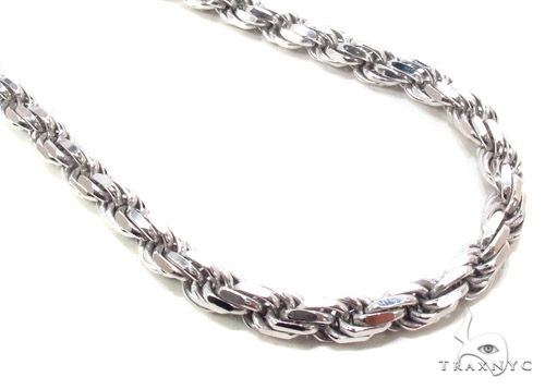 Silver n 36 Inches 6mm 95.5 Grams Silver