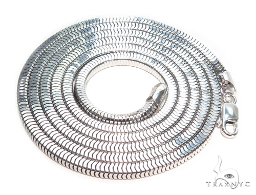 Silver Chain 36 Inches 4mm 41.40 Grams 41106 Silver