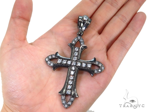 Black Silver Cross 40665 Silver