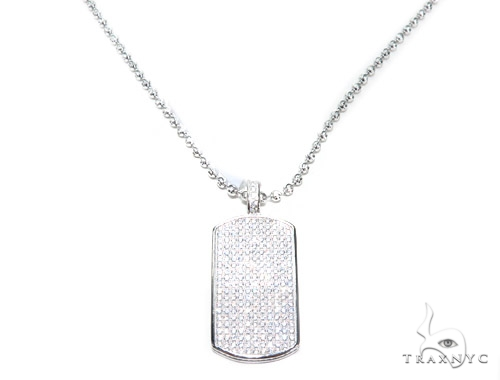 Silver Dog Tag 42872 Metal