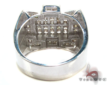 Silver Diamond Crown Ring Metal