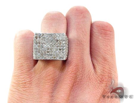 Silver Diamond Modern Ring Metal