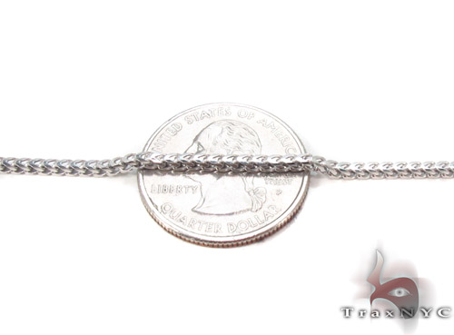 Silver Franco Chain 30 Inches, 2mm, 12.1Grams Silver