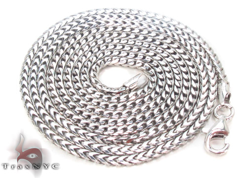Silver Franco Chain 30 Inches, 2mm, 12.1Grams Silver