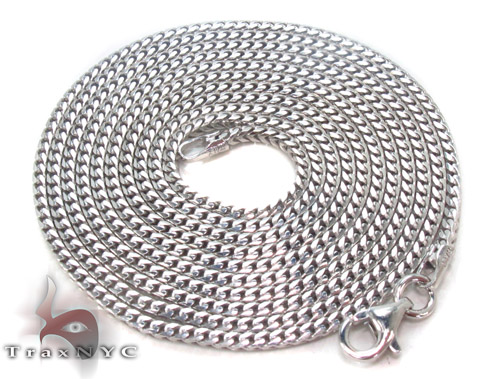 Silver Franco Chain 36 Inches, 2mm, 10.2Grams Silver