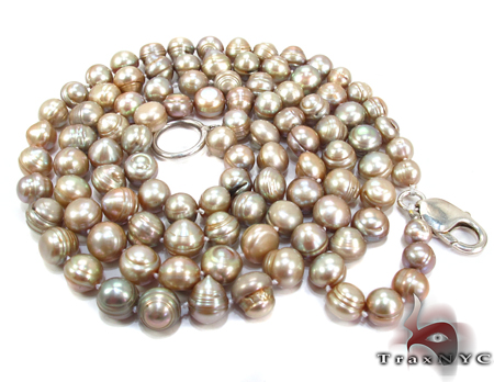 Silver Pearl Necklace 28146 Pearl